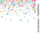 falling confetti. bright... | Shutterstock .eps vector #726689461