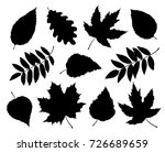 art set of black isolated tree... | Shutterstock .eps vector #726689659