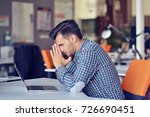 businessman feeling headache... | Shutterstock . vector #726690451