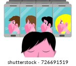 cyber bullying conceptual... | Shutterstock .eps vector #726691519