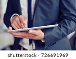 businessman holding digital... | Shutterstock . vector #726691969