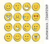 set of smile icons. emoji.... | Shutterstock .eps vector #726692569