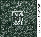 italian food doodle icon... | Shutterstock .eps vector #726692947