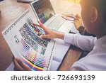 designer working graphic with... | Shutterstock . vector #726693139