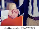 people at work  man and woman... | Shutterstock . vector #726693979