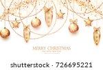 elegant christmas decoration....   Shutterstock .eps vector #726695221