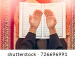 top view of a religious muslim... | Shutterstock . vector #726696991