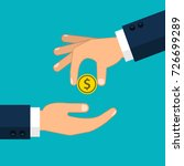 hand giving money to other hand.... | Shutterstock .eps vector #726699289