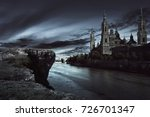 View Of Dark Castle With Dark...