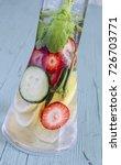 dietary detox drink with lemon... | Shutterstock . vector #726703771