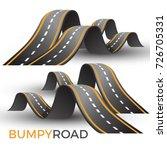 bumpy road icon uneven... | Shutterstock .eps vector #726705331
