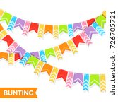bunting colorful flags vector... | Shutterstock .eps vector #726705721