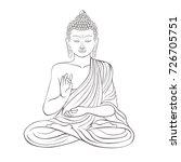 gautama buddha with raised...   Shutterstock .eps vector #726705751