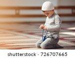 the muslim child prays in the... | Shutterstock . vector #726707665