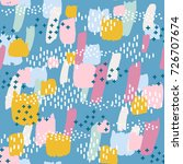 seamless pattern with colorful... | Shutterstock .eps vector #726707674