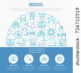 bronchitis concept with thin... | Shutterstock .eps vector #726712519