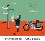 vector illustration of elderly... | Shutterstock .eps vector #726715681