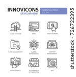 web page development   modern... | Shutterstock .eps vector #726722395