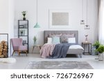 comfortable powder pink chair... | Shutterstock . vector #726726967
