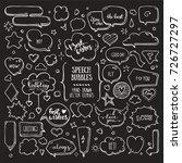 think   talk speech bubbles... | Shutterstock .eps vector #726727297