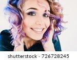 close up portrait in studio... | Shutterstock . vector #726728245