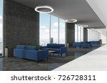 office waiting area with dark... | Shutterstock . vector #726728311
