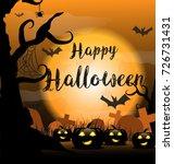 happy halloween background... | Shutterstock .eps vector #726731431