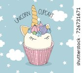unicorn cupcake | Shutterstock .eps vector #726731671