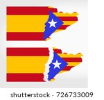 spain and catalonia together... | Shutterstock .eps vector #726733009