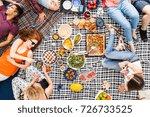 vegan food  holidays  leisure...   Shutterstock . vector #726733525