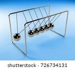 newton's cradle in motion ... | Shutterstock . vector #726734131