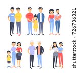 set of different couples and... | Shutterstock .eps vector #726736321