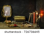 classic still life with vintage ... | Shutterstock . vector #726736645