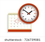 vector calendar and clock icon. ... | Shutterstock .eps vector #726739081