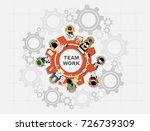flat design illustration... | Shutterstock .eps vector #726739309