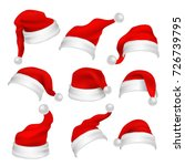 santa claus red hats photo... | Shutterstock .eps vector #726739795