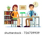 medical consultation with... | Shutterstock .eps vector #726739939