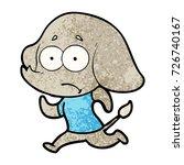 cartoon unsure elephant running ... | Shutterstock .eps vector #726740167