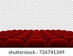 empty movie theater auditorium... | Shutterstock .eps vector #726741349