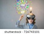 portrait of child in classroom. ...   Shutterstock . vector #726743101