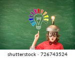 portrait of child in classroom. ... | Shutterstock . vector #726743524