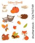 autumn elements | Shutterstock . vector #726743749