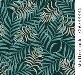 tropical background with palm... | Shutterstock .eps vector #726744445