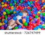 boys playing at ball room | Shutterstock . vector #726747499