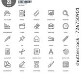 simple set of stationery... | Shutterstock .eps vector #726750901