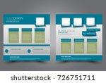 square flyer template. brochure ... | Shutterstock .eps vector #726751711