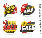 black friday sale sticker... | Shutterstock .eps vector #726751939