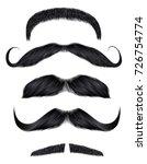 set vector mustache black... | Shutterstock .eps vector #726754774