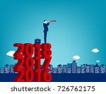 young manager looking at...   Shutterstock .eps vector #726762175