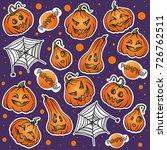 set of vector sticker patch... | Shutterstock .eps vector #726762511